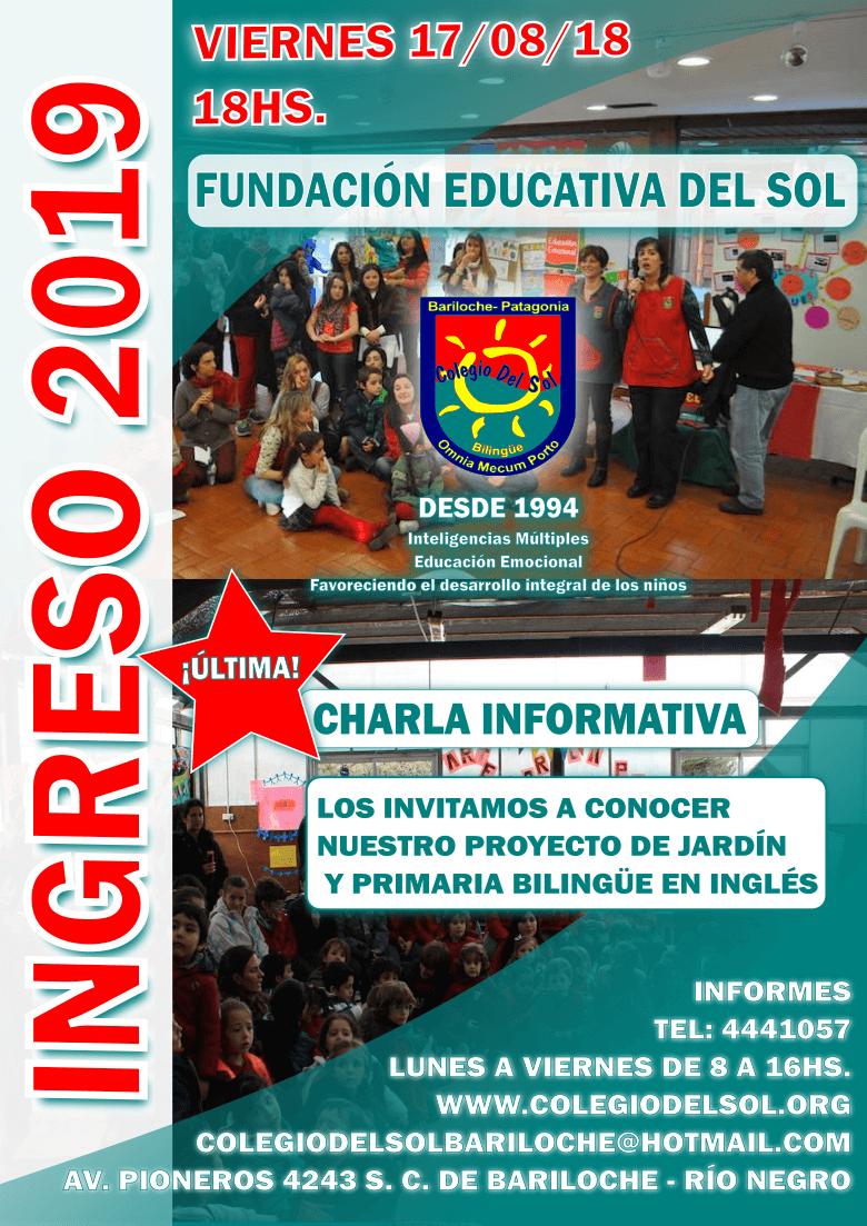 charla informativa 2019 Colegio del Sol Bariloche