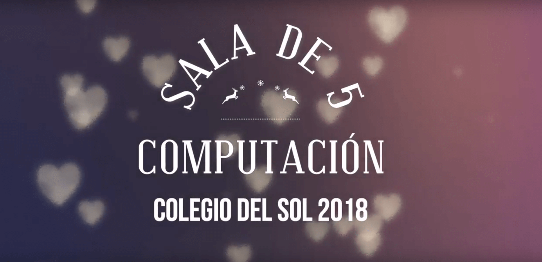 Sala de 5 en computación 2018